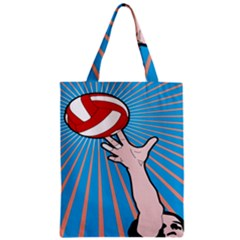 Volly Ball Sport Game Player Zipper Classic Tote Bag by Mariart