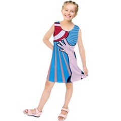 Volly Ball Sport Game Player Kids  Tunic Dress by Mariart