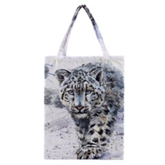 Snow Leopard Classic Tote Bag by kostart