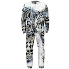 Snow Leopard Onepiece Jumpsuit (men)  by kostart