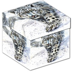Snow Leopard  Storage Stool 12   by kostart