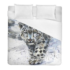 Snow Leopard  Duvet Cover (full/ Double Size) by kostart
