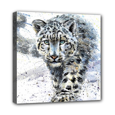 Snow Leopard  Mini Canvas 8  X 8  by kostart