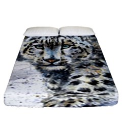 Snow Leopard  Fitted Sheet (king Size) by kostart