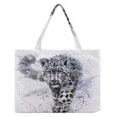 Snow Leopard  Medium Zipper Tote Bag by kostart