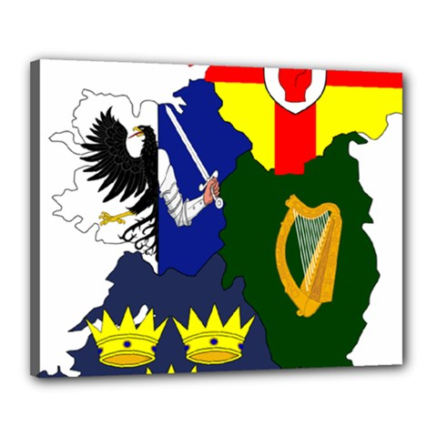 Flag Map Of Provinces Of Ireland Canvas 20  X 16  by abbeyz71