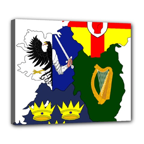 Flag Map Of Provinces Of Ireland Deluxe Canvas 24  X 20   by abbeyz71