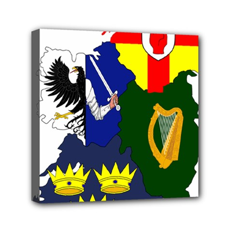 Flag Map Of Provinces Of Ireland  Mini Canvas 6  X 6  by abbeyz71