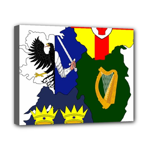 Flag Map Of Provinces Of Ireland  Canvas 10  X 8  by abbeyz71