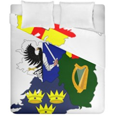 Flag Map Of Provinces Of Ireland  Duvet Cover Double Side (california King Size) by abbeyz71