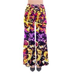 Purple Yellow Flower Plant Pants