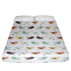 Assorted Birds Pattern Fitted Sheet (king Size) by linceazul