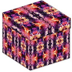 Mystic Red Blue Ornament Pattern Storage Stool 12   by Costasonlineshop