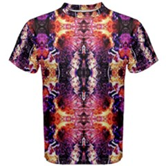 Mystic Red Blue Ornament Pattern Men s Cotton Tee