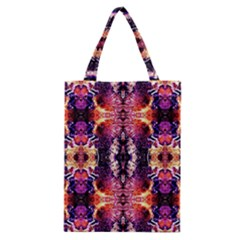 Mystic Red Blue Ornament Pattern Classic Tote Bag