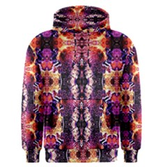 Mystic Red Blue Ornament Pattern Men s Pullover Hoodie