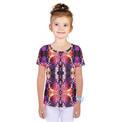 Mystic Red Blue Ornament Pattern Kids  One Piece Tee