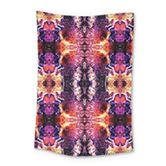 Mystic Red Blue Ornament Pattern Small Tapestry