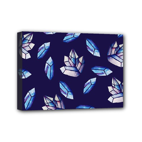 Mystic Crystals Witchy Vibes  Mini Canvas 7  X 5  by BubbSnugg