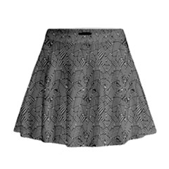 Modern Intricate Optical Pattern Mini Flare Skirt by dflcprintsclothing