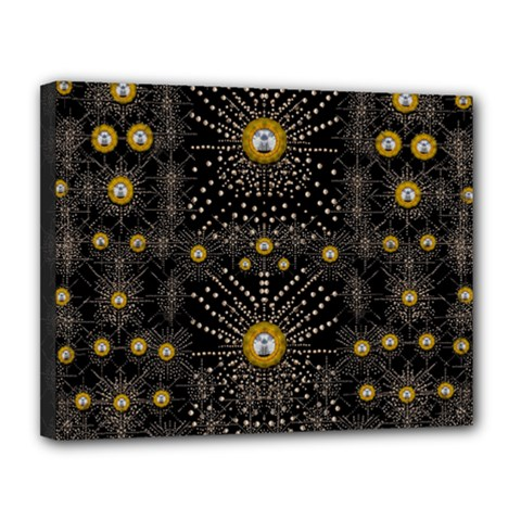 Lace Of Pearls In The Earth Galaxy Pop Art Canvas 14  X 11  by pepitasart