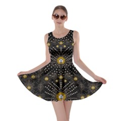 Lace Of Pearls In The Earth Galaxy Pop Art Skater Dress by pepitasart