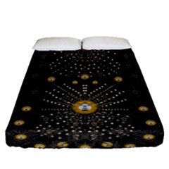 Lace Of Pearls In The Earth Galaxy Pop Art Fitted Sheet (queen Size) by pepitasart