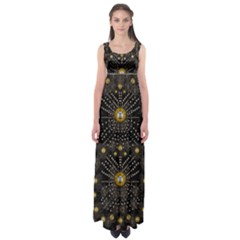Lace Of Pearls In The Earth Galaxy Pop Art Empire Waist Maxi Dress by pepitasart