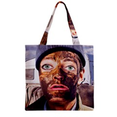 Shitfaced Grocery Tote Bag by RakeClag