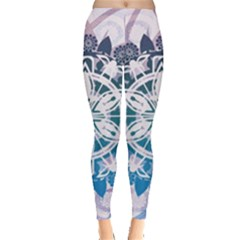 Mandalas Symmetry Meditation Round Leggings  by Vayuart