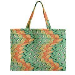 Emerald And Salmon Pattern Zipper Mini Tote Bag by linceazul