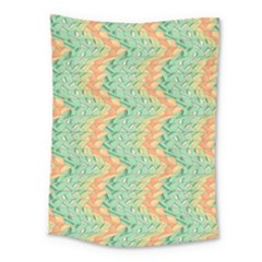 Emerald And Salmon Pattern Medium Tapestry by linceazul
