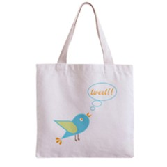 Cute Tweet Grocery Tote Bag by linceazul