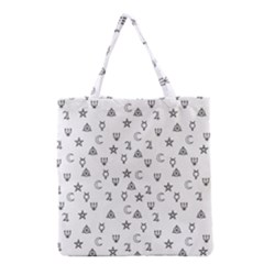 Witchcraft Symbols  Grocery Tote Bag by Valentinaart