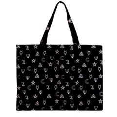 Witchcraft Symbols  Zipper Mini Tote Bag by Valentinaart