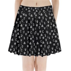 Witchcraft Symbols  Pleated Mini Skirt by Valentinaart