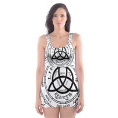 Witchcraft Symbols  Skater Dress Swimsuit by Valentinaart