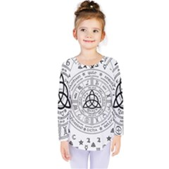 Witchcraft Symbols  Kids  Long Sleeve Tee by Valentinaart