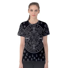 Witchcraft Symbols  Women s Cotton Tee by Valentinaart