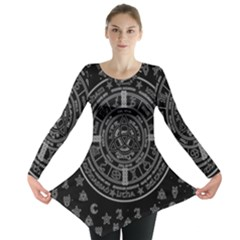 Witchcraft Symbols  Long Sleeve Tunic  by Valentinaart