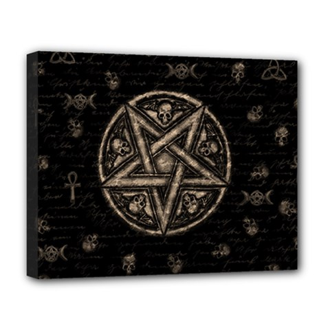 Witchcraft Symbols  Deluxe Canvas 20  X 16   by Valentinaart