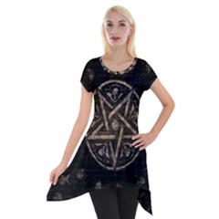 Witchcraft Symbols  Short Sleeve Side Drop Tunic by Valentinaart
