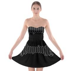 Illuminati Strapless Bra Top Dress by Valentinaart