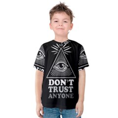 Illuminati Kids  Cotton Tee by Valentinaart