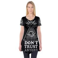 Illuminati Short Sleeve Tunic  by Valentinaart