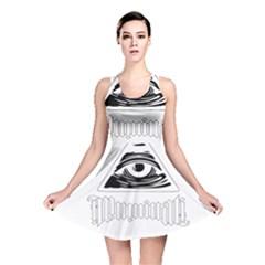 Illuminati Reversible Skater Dress by Valentinaart