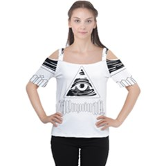 Illuminati Women s Cutout Shoulder Tee by Valentinaart