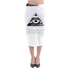 Illuminati Midi Pencil Skirt by Valentinaart