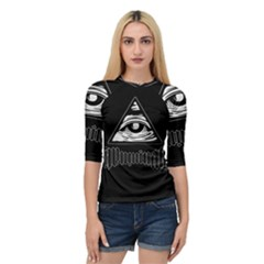 Illuminati Quarter Sleeve Tee by Valentinaart