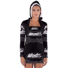 Illuminati Women s Long Sleeve Hooded T Shirt by Valentinaart